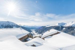 Traumhafte Winterlandschaft im Gsieser Tal in Südtirol