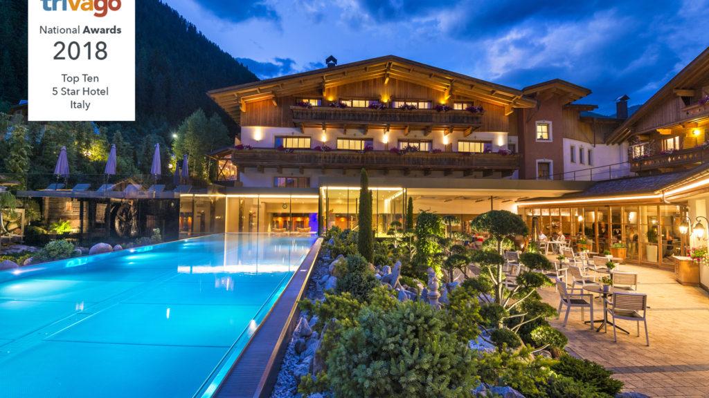 Hotel Quelle auf Rang 4 der besten 5-Stern Hotel Italiens