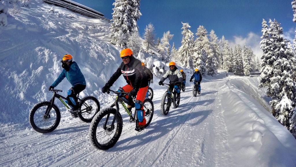 Fatbikespaß im Schnee in der Ramsau am Dachstein
