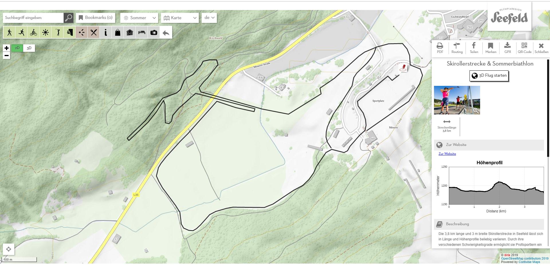 Skirollerstrecke & Sommerbiathlon in Seefeld - sommer, news