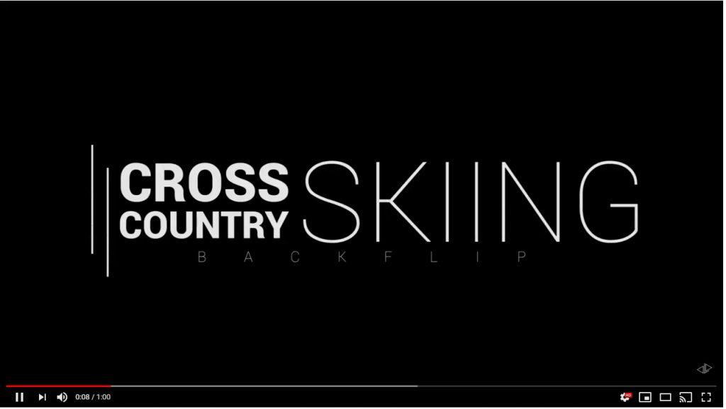 Cross Country Skiing Backflip