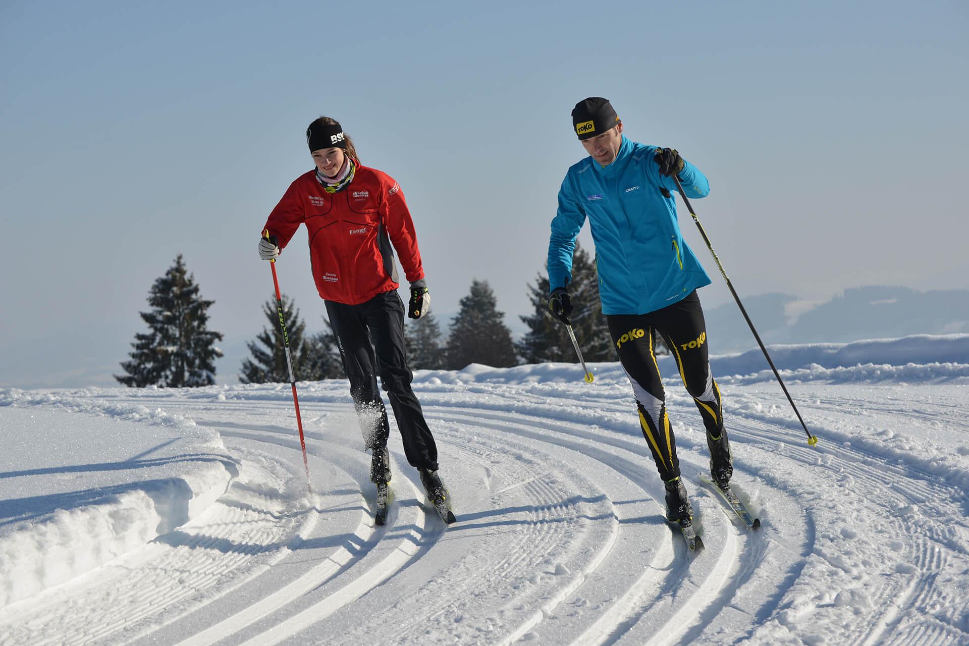 Langlaufloipe in Scheidegg
