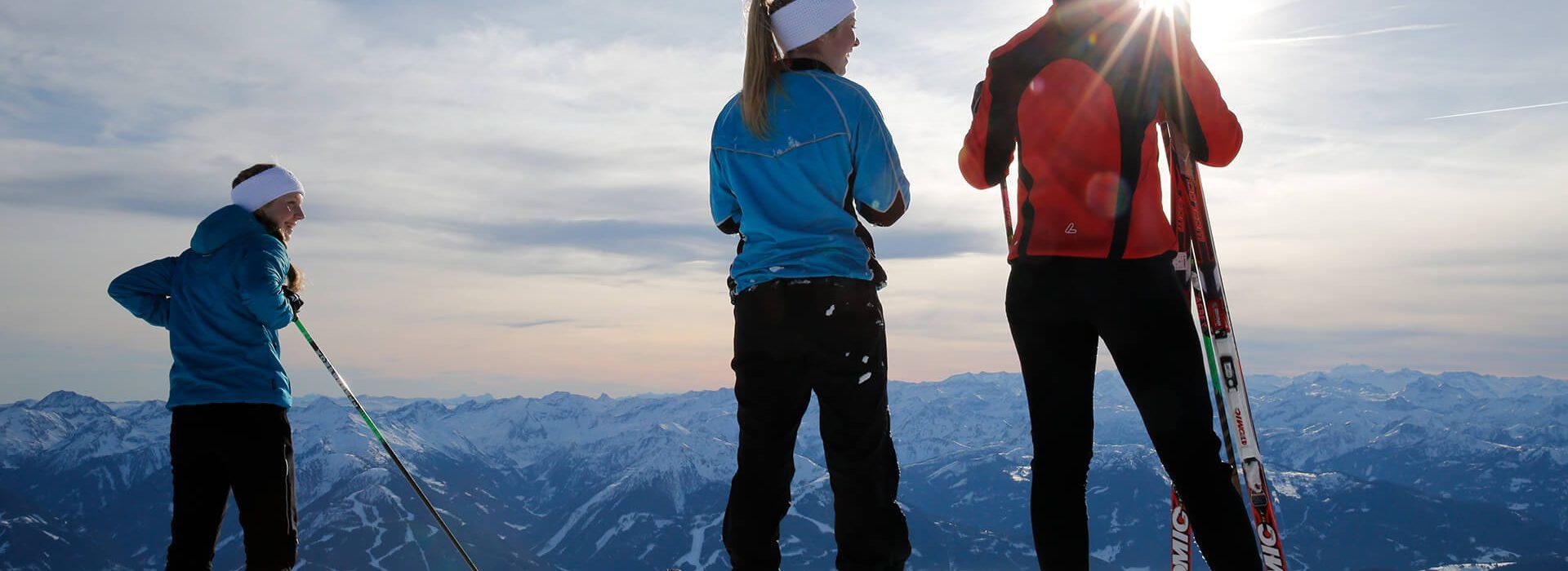 Langlaufen auf dem Gletscher