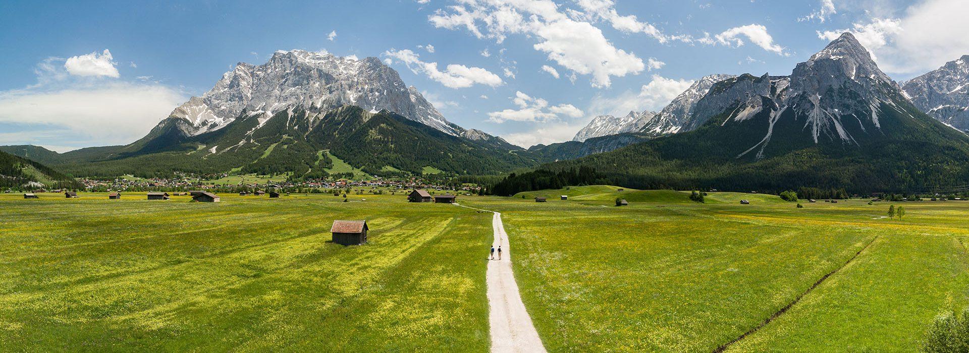 Panorama Tiroler Zugspitz Arena ©TVB Tiroler Zugspitz Arena
